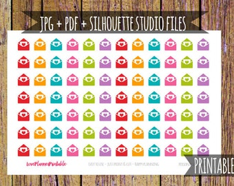 Happy Mail Stickers Printable Planner Stickers Icon Stickers Functional Stickers Cut File Stickers Happy Mail Planner Package A111