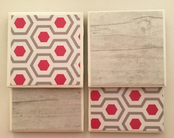 Chic Tile Coaster Set