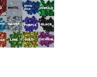 8mm loose sequins (200 pieces/bag) (13 colors)