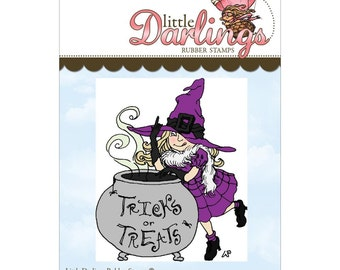 Trick Or Treat (Little Darling Stamps) - unmounted rubber stamp by Little Darlings Rubber Stamps