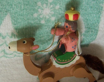 little camel and rider ornament