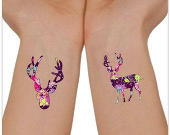 Temporary Tattoo 2 Deer Tattoos Wrist Tattoo