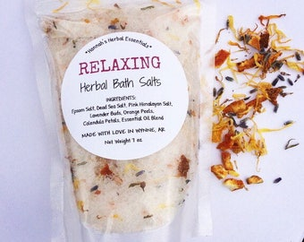 Relaxing Bath Salts - Bath Soak -Herbal All Natural Soak-Pink Himalayan Salt - Calming Bath Salts