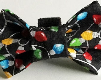 Christmas Lights Bow Tie for Male Dogs and Cats