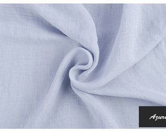 Spring/Summer Must Have's: Organic Bamboo and Silk (40/60%)  Linen in Azure  Color. Imported.