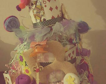 Alice in Wonderland- Chesire Cat diaper cake