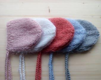 Mohair Newborn Hat, Newborn Hat, Newborn Photo Props, Newborn Boy Hat, Newborn Girl Hat, Mohair Newborn Bonnet, Knit Newborn Hat