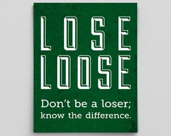 Proper Grammar Lose vs Loose Print English Teacher Gift for Teachers Educational Poster Education Poster Grammar Police Classroom Poster