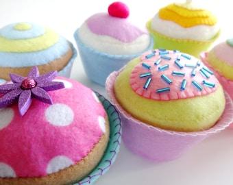 Felt Cupcakes Sewing Pattern