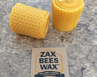 100% Pure & Natural Beeswax Votive Candle | Honeycomb