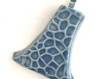 Pendant Stoneware Ceramic Sky Celadon Great Stocking Stuffer Ready to Ship PNT00016