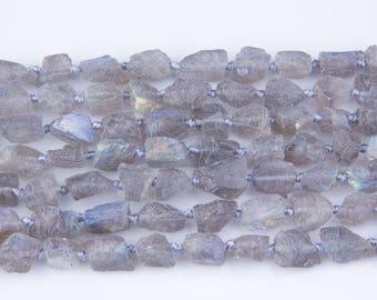 Labradorite Nugget Gemstone Beads, Stones for Beading, Gemstone Beads, Beads for Necklace, Rock Nuggets, Raw Nugget Gemstone, GS30RK