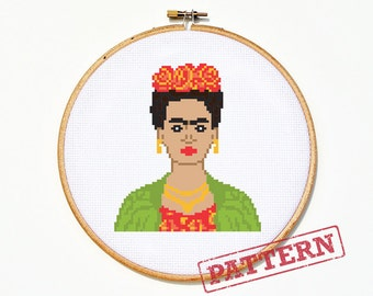 Frida Kahlo Cross Stitch Pattern