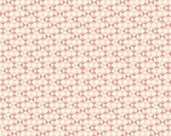 Riley Blake: Vintage Daydream C5564, Pink geometrical fabric, fabric by the yard