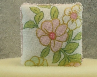 Dollhouse Miniature accessory in twelfth scale or 1:12 scale; Decorative pillow.   Item #409.
