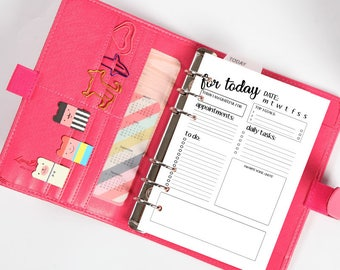 Daily planner A5, planner giornaliero. PRINTABLE - STAMPABILE