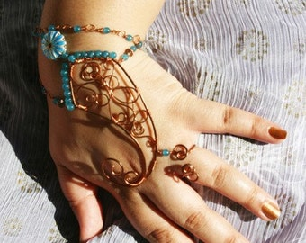 BESPOKE Utpala /// Slave Bracelet by Jhumki Luxe - designs by raindrops