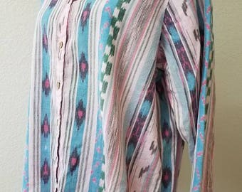 100% cotton oversize boho shirt