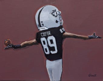 Amari Cooper, Oakland Raiders Painting