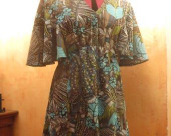 Vintage tunic, printed seventies