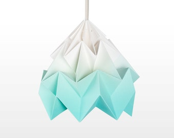 origami lamp shade Moth gradient mint
