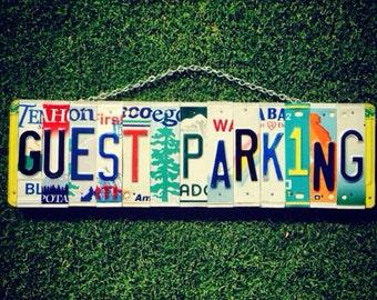 Parking Sign. Guest Parking. Guest Parking Sign. Car Tag. License Plate Art. Parking Sign for Wedding. Garage Sign.