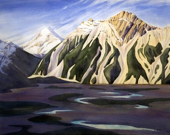 Aoraki-Mt Cook - archival print from original painting