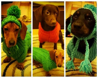 dog clothes.dachshund clothes.Dog costumes.Dog hat. Dog Sweater.Dog costumes