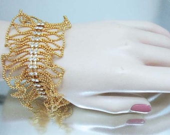 Joan Rivers Crystal Ruffle Bracelet Elegant Unused