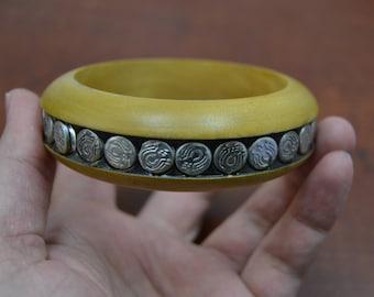 handmade WOOD BANGLE bracelet