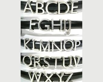 Antique Silver Regaliz Letters of the Alphabet