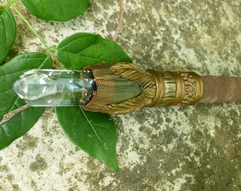 Wand, Copper with Quartz point