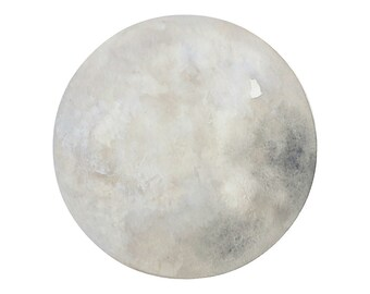 Luna 22 - Archival 8x8 Print - Contemporary Minimalist Watercolor Painting - Astronomy, Moon Art - by Natasha Newton