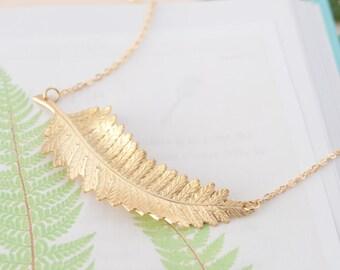 Fern Necklace, Fern Pendant, Fern Jewellery, Fern Leaf Necklace, Botanical Necklace, Botanical Choker, Modern Choker, Statement Necklace