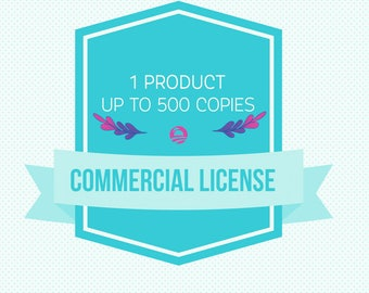 Commercial license for one listing | up to 500 copies.