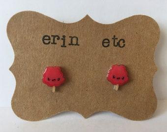 Handmade Plastic Fandom Earrings - Cotton Candy