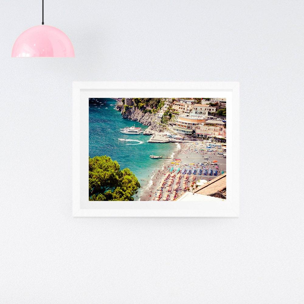 Luftige Strand Fotografie-Druck Druck Italien Strand