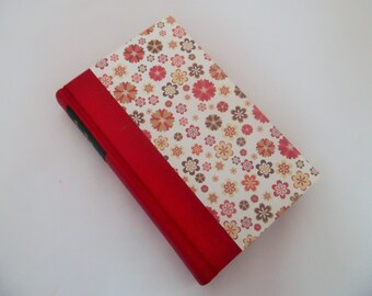 Romola by George Eliot, Rebound Book. c.1930's. 1/4 bound red buckram and flowery paper