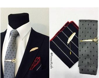Necktie, Mens Necktie, Neck Tie, Groomsmen Necktie, Ties, Tie, Wedding Neckties, tie - COMBO SET Pocket square, Tie, Tie bar, Lapel pin
