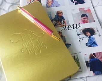 Black Girl Magic | Notebook Jotter #blackgirlmagic Gold Foil-Metallic Gold-Black Girl Magic