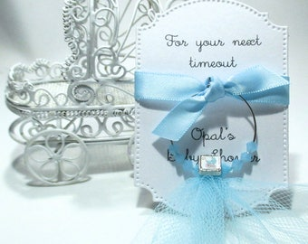 Baby Shower Favors - For your next timeout - Wine Glass Charm Favors - Set of 10 - Personalized - Custom - Wine Glass Tags