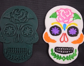Day of The Dead Sugar Skull w/ Rose Cookie Cutter