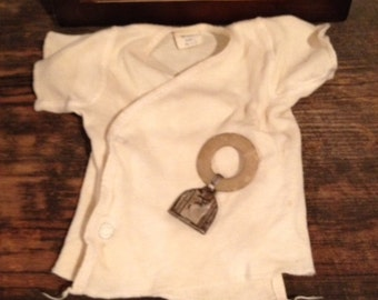 Antique/Vintage Baby Shirt & Teether**SALE**