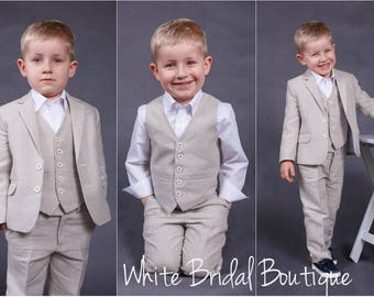 Ring bearer outfit Wedding boy outfit Wedding boy suit Ring bearer suit Baby boy suit Baptism suit Christening boy suit Baptism outfit