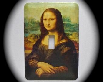 METAL Decorative Single Switch Plate ~ Leonardo DaVinci, Mona Lisa, Famous Painting, Light Switchplate, Switch Plate Cover, Home Decor