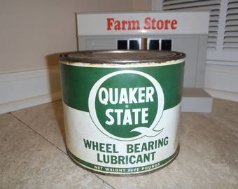 Quaker State Oil Grease Can