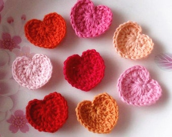 8 Crochet  Hearts  YH - 035-02