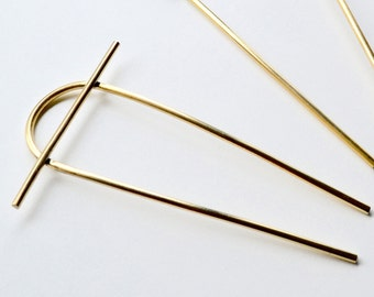 HORIZON Brass Hair Pin // Bun Pin // Hair Fork