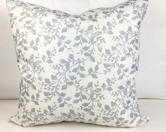 White Pillow Cover, White and Silver Pillow Cover, 20x20 Pillow Cover, Metallic Pillow Cover, Decorative Pillow Cover, Accent cover