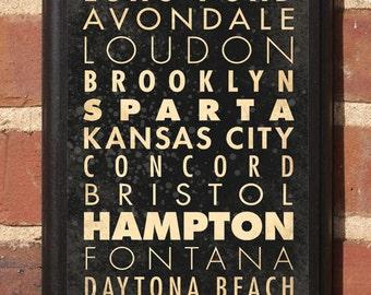 NASCAR Racing Cities Track List Wall Art Plaque Sign Race Car Speedway Home Decor Vintage Gift Present Daytona Bristol Darlington Classic